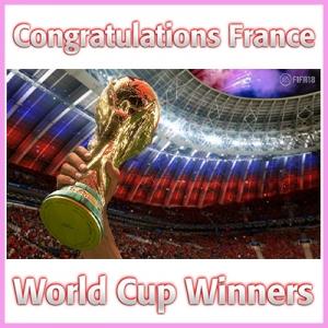 Congratulations France – World Cup Winners 2018