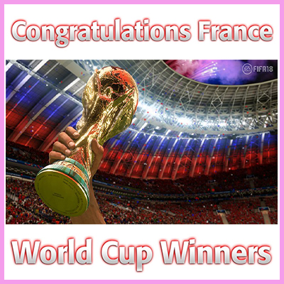 Congratulations France – World Cup Winners 2018