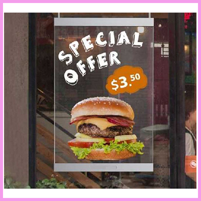 CDS Transparent LED Window Poster Displays