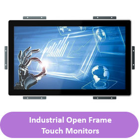 Industrial open frame touch button