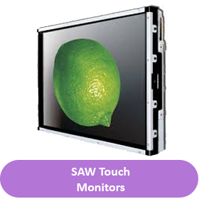Saw touch monitor button