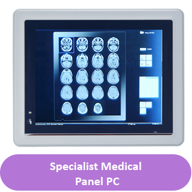 medical panel pc button