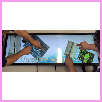 CDS stretched touch displays