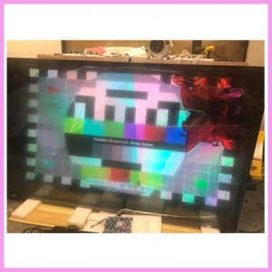 WOW 75 inch 3DP, the 3D Transparent, in Testing Before Shipment