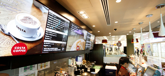 LED android digital menu boards CDS
