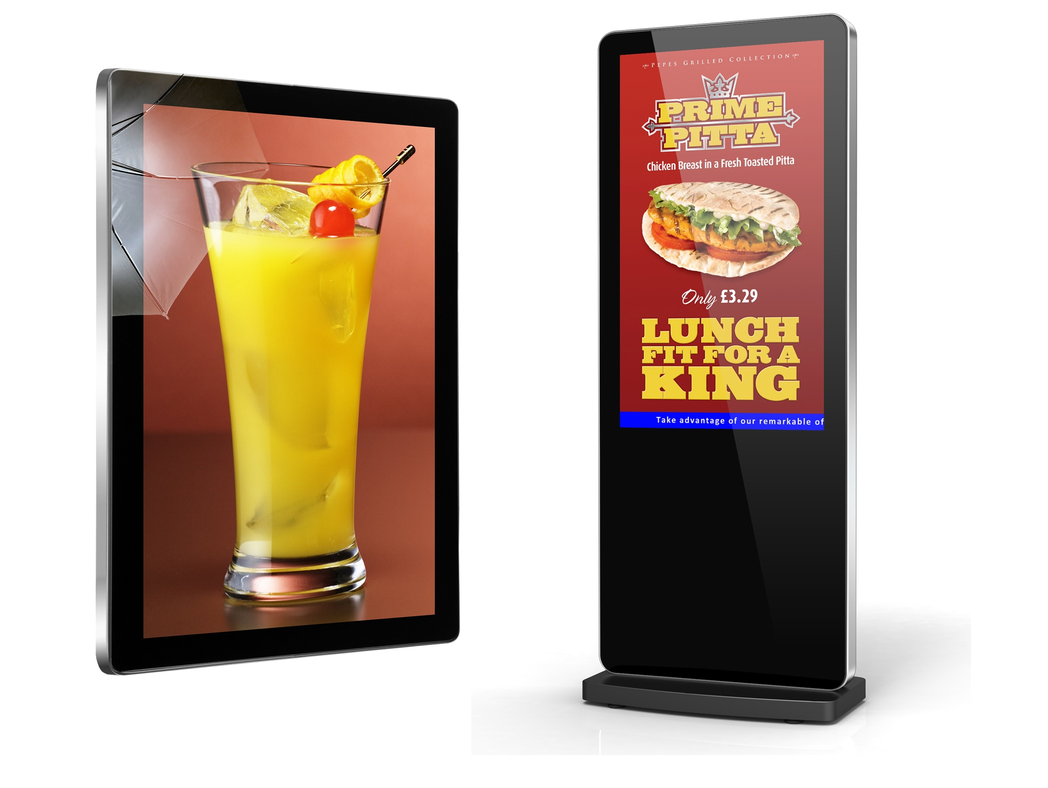 digital posters for restaurants