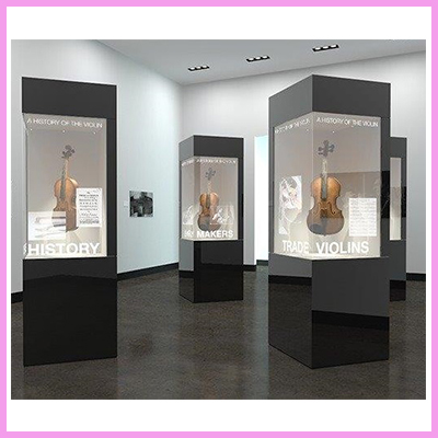Potential Install Ideas for Transparent Displays in Museums