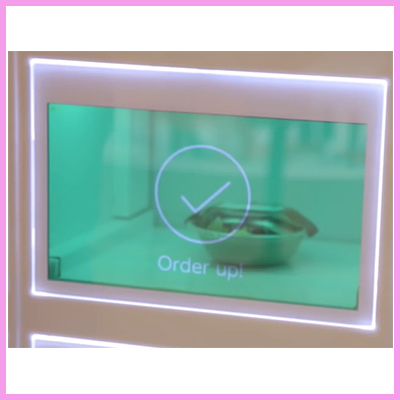 Touch Transparent Screen in Motorised Restaurant