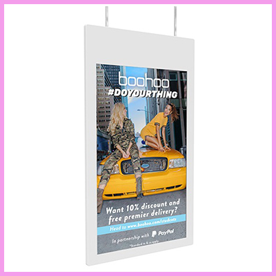 Newly Launched Double Sided Hanging Window Displays