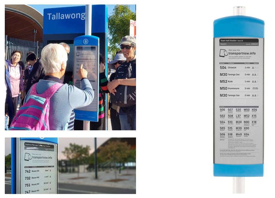 epaper outdoor bustop