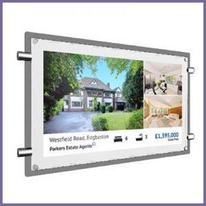 Rod Powered Digital Signage for Window Displays