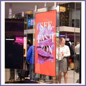 Crystal Displays Double Sided Digital Signage Kiosks