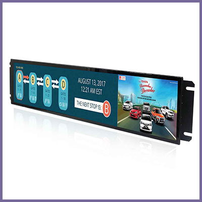 CDS 37.6 inch EN50155 Full IP54 Fanless Panel PC for Railway