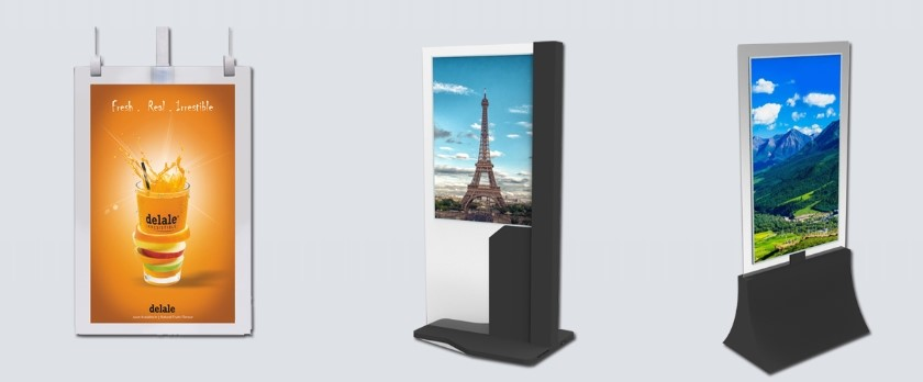 double sided displays