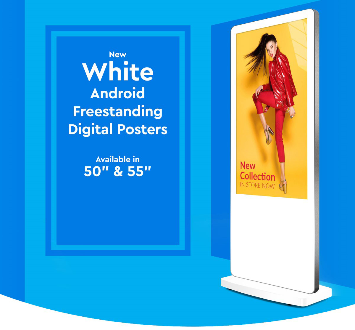 white freestanding new