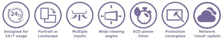 Crystal digital signage icons