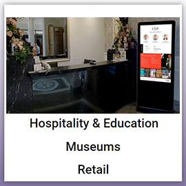 crystal digital signage market sectors