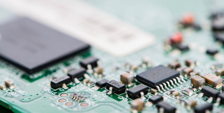PCB with different components